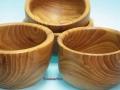 Cuencos de madera de Olmo torneada. F. Treceño