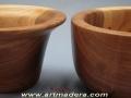 Cuencos de madera de Olmo. Torneado de madera.