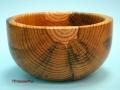 Cuenco de madera pasmada de pino. F. Treceño