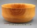 Cuenco torneado de madera de álamo. Tornero de madera-F. Treceño