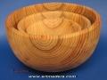 Cuencos de madera de cedro torneada. Artmadera.com