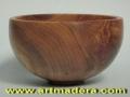 Cuenco ensaladera de madera de nogal español -Juglans Regia-. tornero de madera Treceño.
