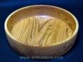 Torneado de madera de roble francés y acabado al aceite para uso alimentario. Artmadera torneada, Francisco Treceño.