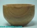 Bol de madera de cedro. Torneados Art madera; Francisco Treceño