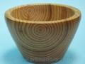 Cuenco de madera de cedro torneado a mano. Artmadera.com