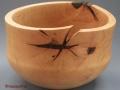 Corazón partido de madera de encina torneado al estilo tradicional. F. Treceño tornerodemadera.