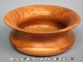 Torneado campaniforme de madera de olmo. artmadera.com