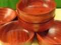 Cuencos de madera de palo rojo. F. Treceño tornerodemadera