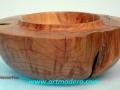 Cuenco decorativo de madera de enebro -juniperus thurifera- (la que porta incienso). Tornerodemadera. artmadera F. Treceño