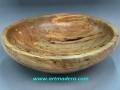 Madera pasmada de acebo; cuenco decorativo, tornerodemadera Treceño