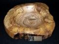Cuenco de madera de olivo. Tornero de madera, Francisco Treceño.