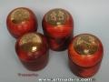 Joyeros de madera de palo rojo y latón envejecido de Teresa Aliagas. torneados artmadera