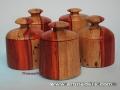 Joyero-cajita de madera de Padauk o Palo Rojo. Torneados de madera artesanales.