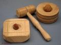 Cascanueces pequeño de roble o castaño. torneados artmadera