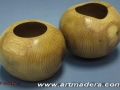Formas globulares de madera de acacia. F. Treceño