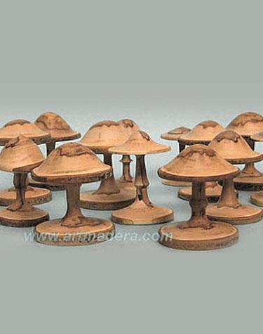 Setas de madera