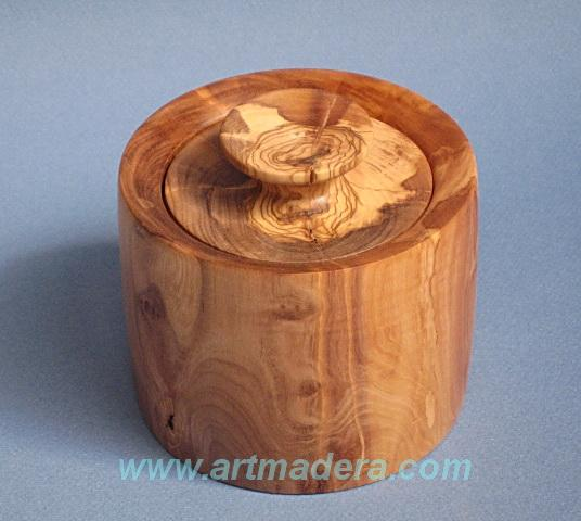 Joyero de madera de olivo